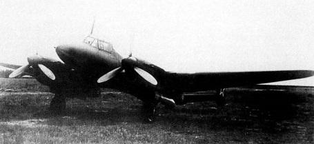 Пикирующий бомбардировщик пе-2б.