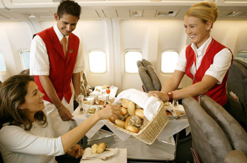 Питание во время перелета на борту чартерных рейсов