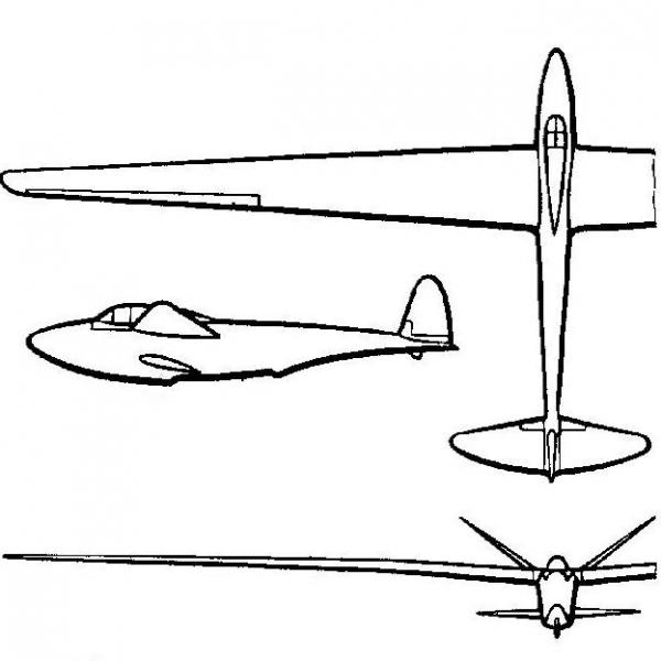 Планер-амфибия каи-3.