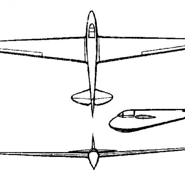 Планер ва-3.