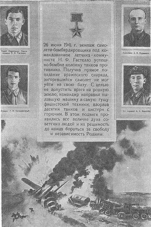 Подвиги советских лётчиков в боях за москву