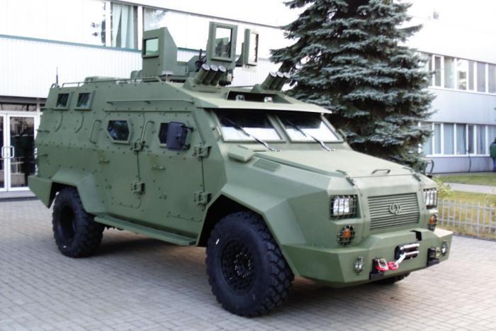 Предсерийный вариант украинского бронеавтомобиля барс-8
