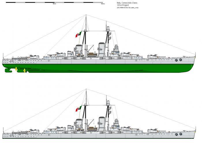 Предтечи быстроходных линкоров. итальянские сверхдредноуты типа «франческо караччоло»