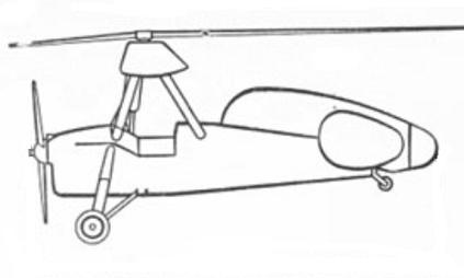 Проект автожира цаги а-10.