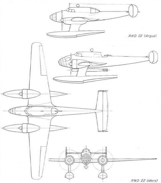 Проект бомбардировщика-торпедоносца и морского разведывательного гидросамолета rwd 22. польша