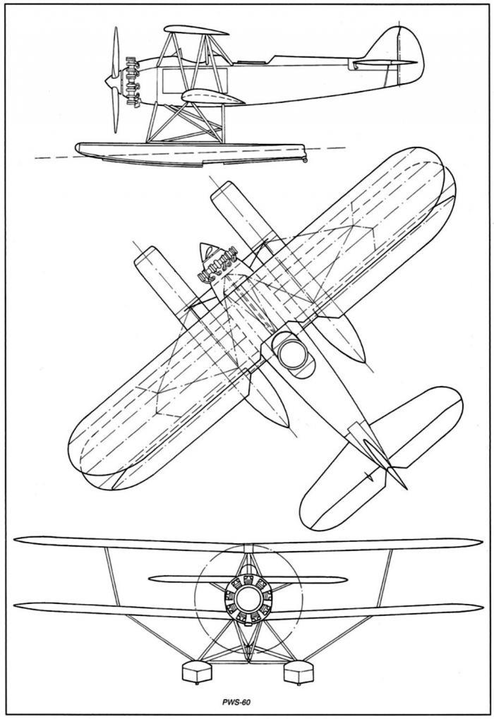Проект гидросамолета-разведчика pws.60. польша