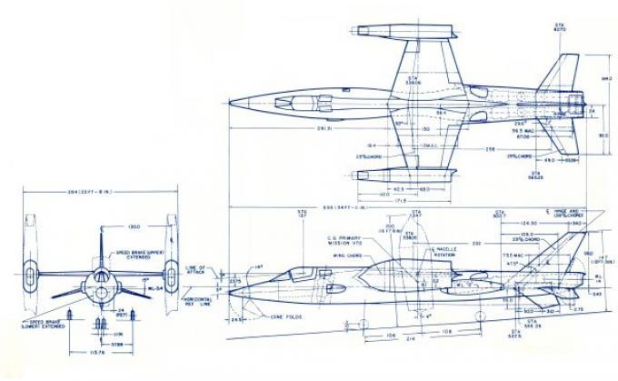 Проект истребителя-бомбардировщика/перехватчика пво с ввп bell d-188a. сша