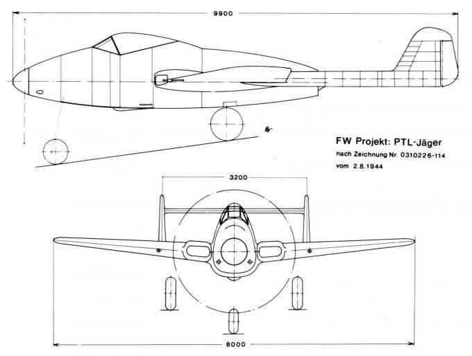 Проект истребителя focke-wulf projekt vii. германия