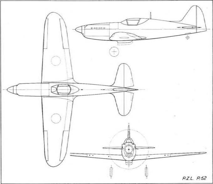 Проект истребителя p.z.l. p.62. польша