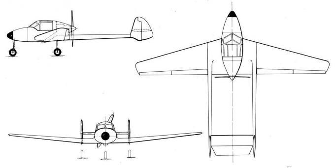 Проект легкого многоцелевого самолета фирмы bucker. германия