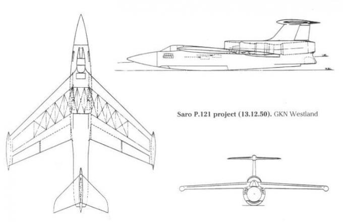 Проект оснащенного гидролыжами истребителя для авиационной службы королевского флота saunders-roe p.121. великобритания