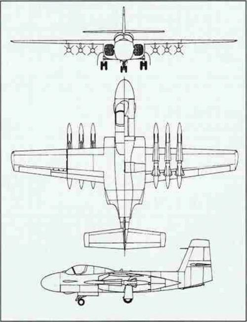 Проект палубного истребителя-перехватчика douglas f6d missileer. сша