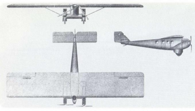 Проект пассажирского самолета dornier do gi greif. германия