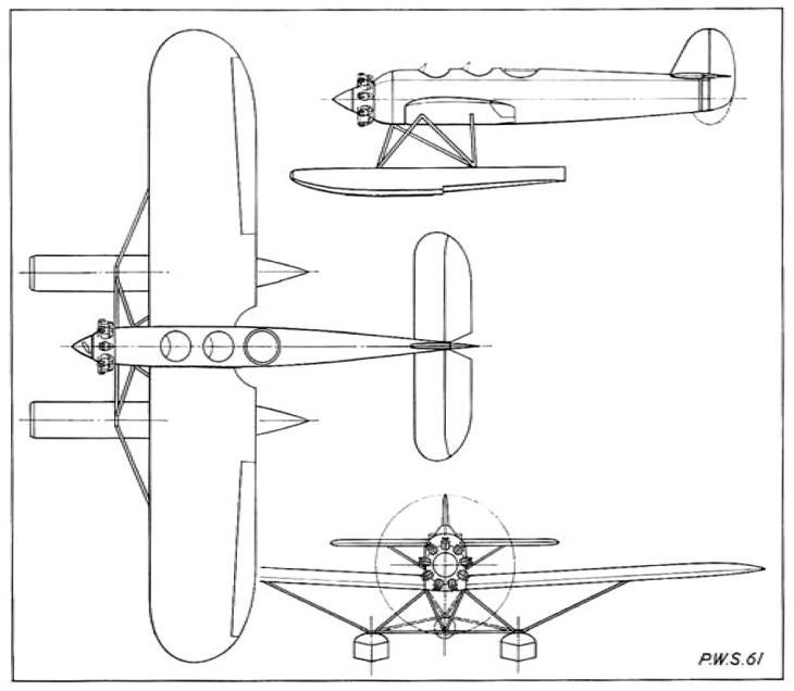 Проект поплавкового бомбардировщика-торпедоносца pws.61. польша