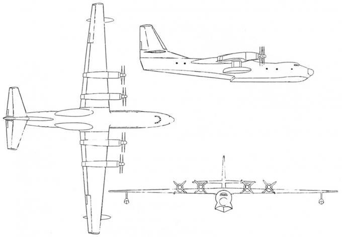 Проект противолодочной летающей лодки окб бериева. ссср