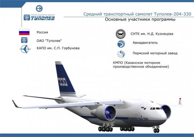 Проект среднего транспортного самолета ту-330. ссср/россия