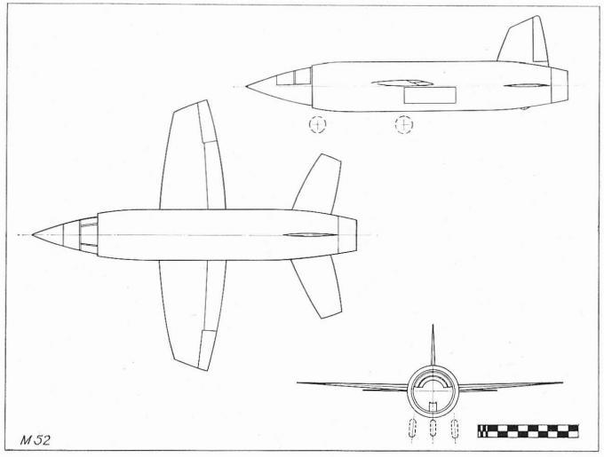 Проект сверхзвукового экспериментального самолета miles m.52. великобритания