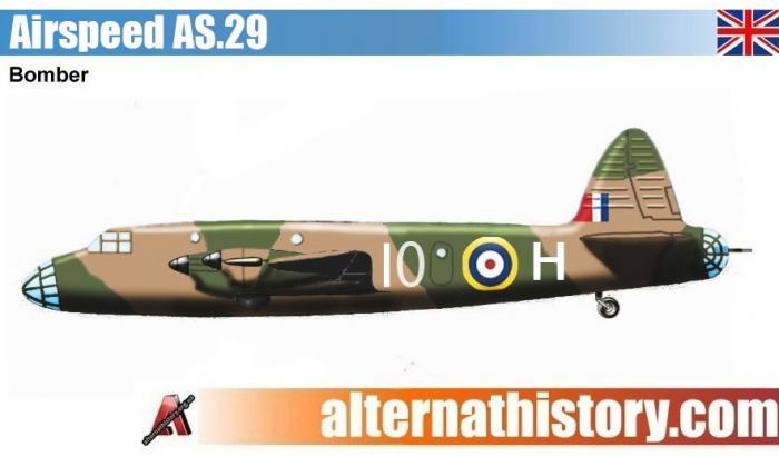 Проект тяжелого бомбардировщика airspeed as.29. великобритания