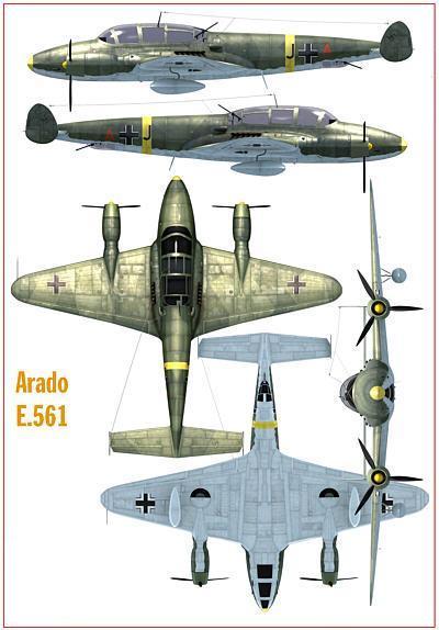 Проект тяжелого истребителя arado ar e.561. германия