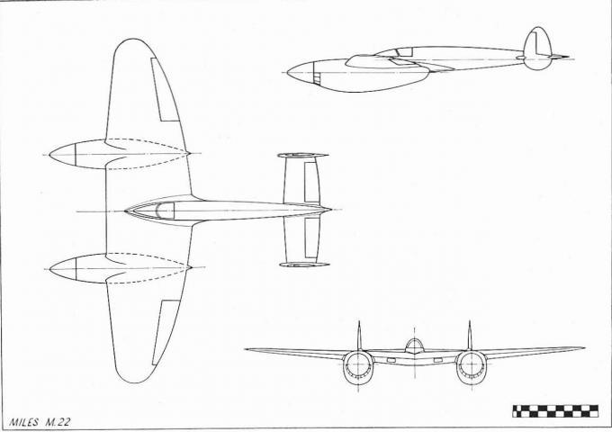 Проект тяжелого истребителя miles m.22. великобритания