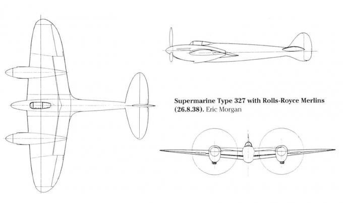 Проект тяжелого истребителя supermarine 327. великобритания