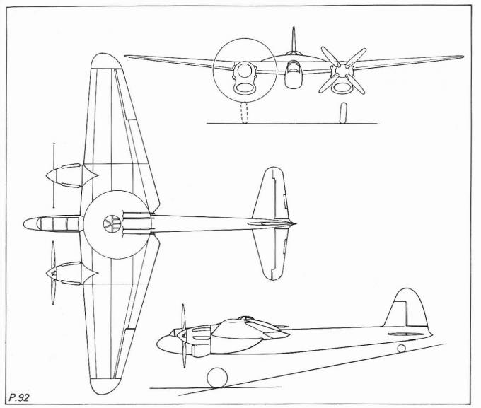 Проект турельного истребителя-перехватчика boulton paul p.92 и экспериментальный самолет boulton paul p.92/2. великобритания
