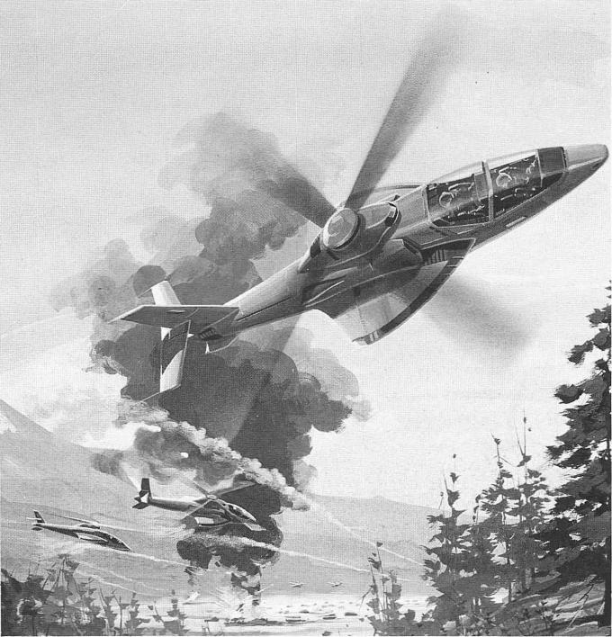 Проект ударного вертолета bell helicopter textron/mcdonnell douglas lhx. сша