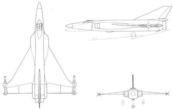 Проекты британских высотных истребителей-перехватчиков 1953-59 годов. проект истребителя-перехватчика fairey f.155