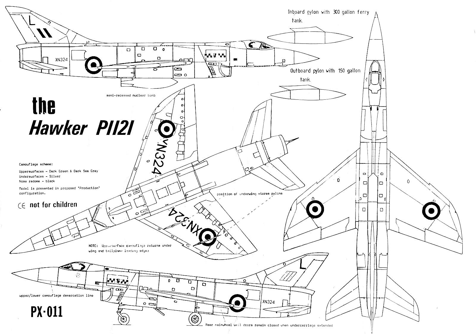 Проекты британских высотных истребителей-перехватчиков 1953-59 годов. проект истребителя-перехватчика hawker p.1121