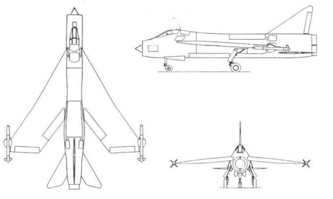 Проекты британских высотных истребителей-перехватчиков 1953-59 годов. проект истребителя-перехватчика english electric p.8
