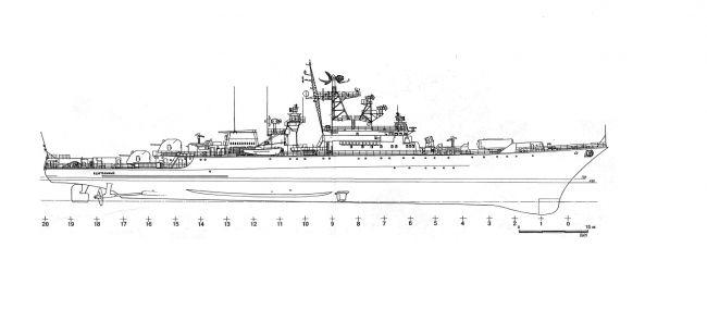 Программа модернизации сторожевых кораблей проекта 1135 в альтернативные 1980х - 1990х