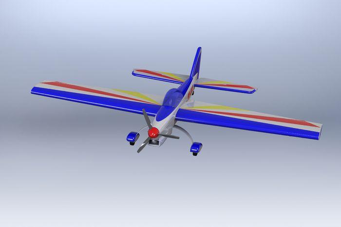 Простая кордовая модель самолета для воздушного боя класса f2d