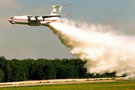 Противопожарный самолет ил-76п (тдп).