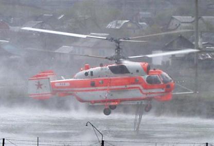 Противопожарный вертолет ка-32а1.