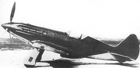 Пушечный истребитель ип-201.
