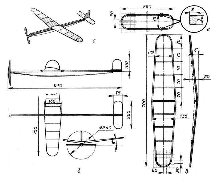Радиоуправляемая модель самолета «чижик»