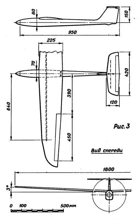 Радиоуправляемая модель самолета с электродвигателем класса f5b/7