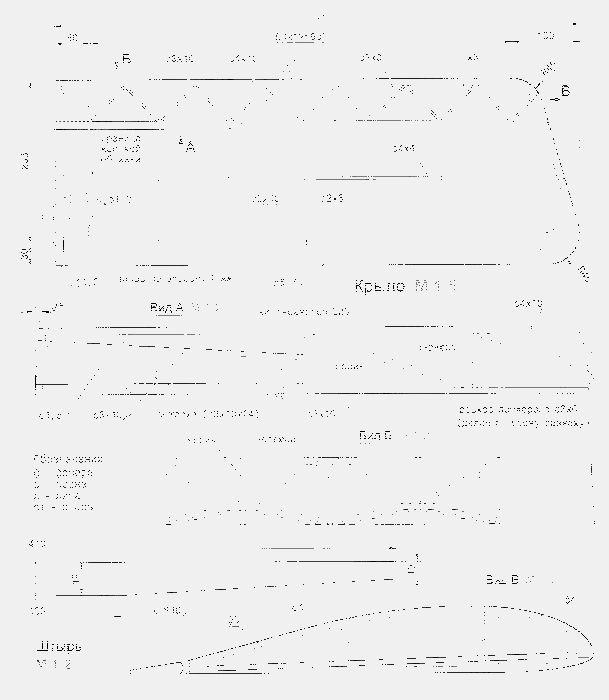 Редиоуправляемая модель полукопия истребителя – моноплана fokker e.iii