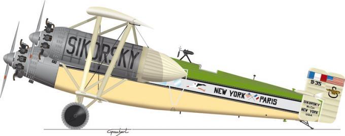 Рекордный самолет sikorsky s-35. сша