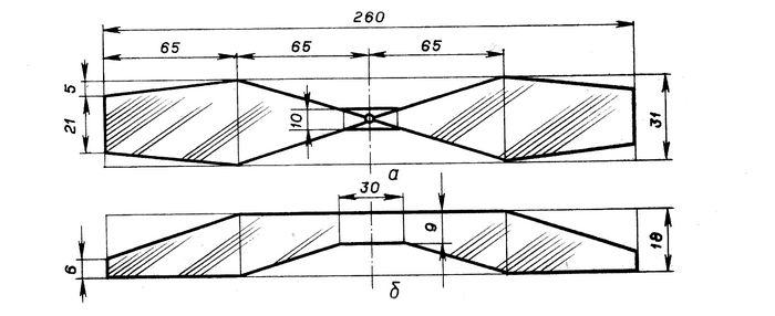 Резиноматорная схематическая модель самолета «пчелка»