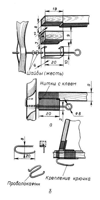 Резиноматорная схематическая модель самолета «чижик»