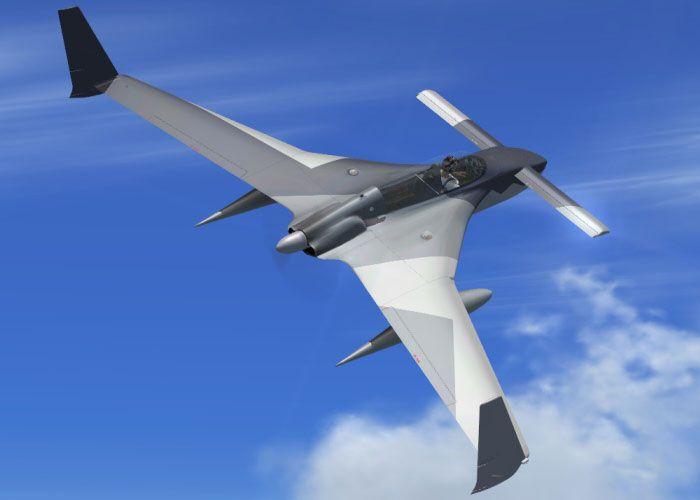 Rutan long-ez. технические характеристики. фото.