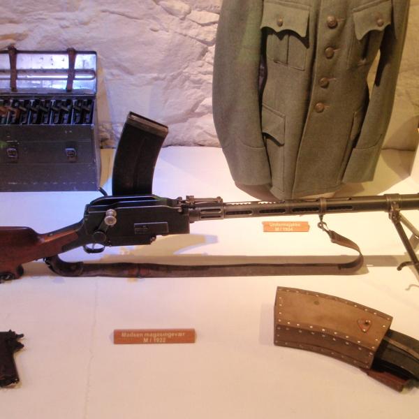 Ружьё-пулемёт «madsen».