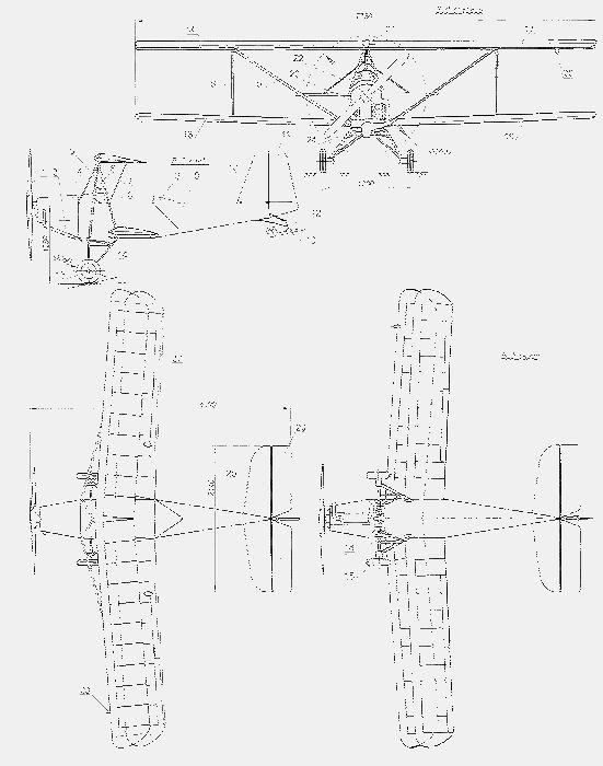 Самодельный самолет-биплан «кузнечик»