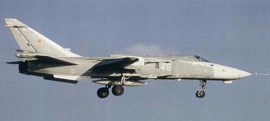 Самолет-постановщик помех су-24мп.