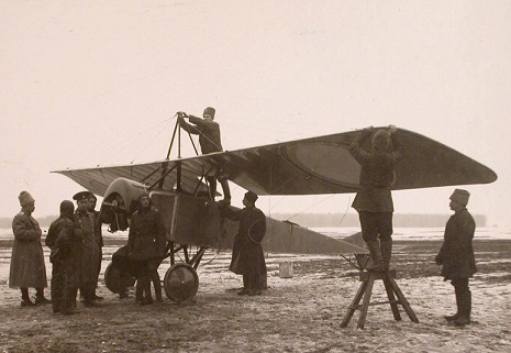 Самолет-разведчик morane-saulnier type l (моран-парасоль).