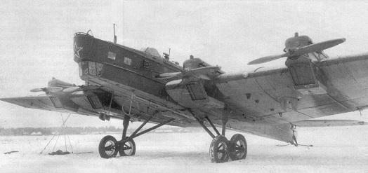 Самолет-заправщик тб-3р.