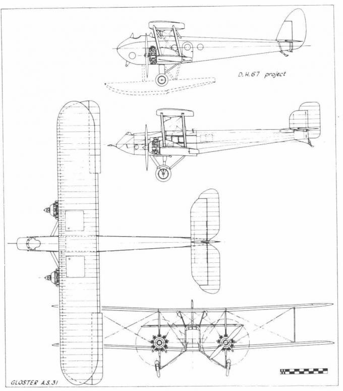Самолёт для аэрофотосъемки gloster as.31. великобритания