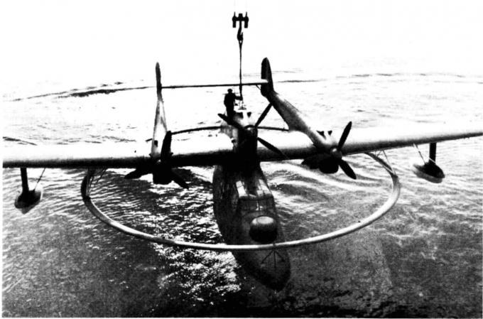 Самолёт для уничтожения минных заграждений blohm und voss bv 138 ms. германия