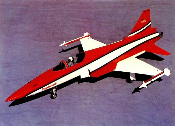 Самолёт с акульим носом. опытный истребитель northrop f-5g/f-20a tigershark. сша